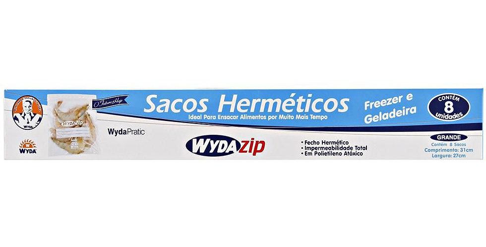 SACO POL. C/FECHAMENTO HERMETICO C/8 WYDA