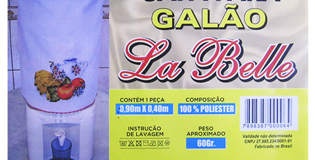 CAPA DE GALAO DE AGUA DE POLIESTER 90X40CM 010 LA BELLE