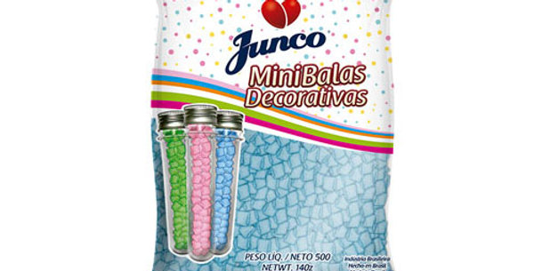 MINI BALA DECORATIVA BLUE ICE JUNCO 500GR