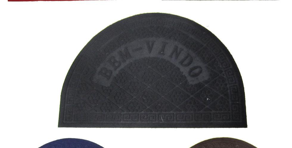 TAPETE / CAPACHO EMBORRACHADO MEIA LUA SORTIDOS 57X37CM
