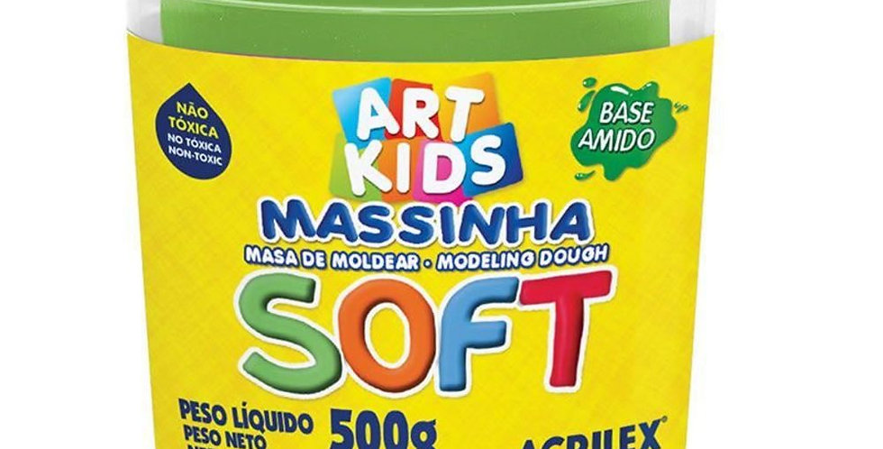 MASSA MODELAR SOFT 500GR ACRILEX 101 VERDE(E)