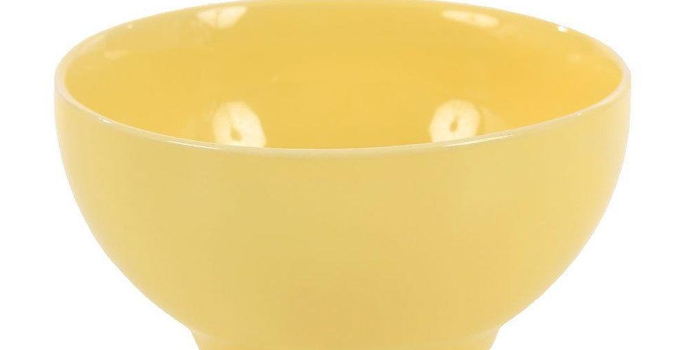 Tigela Bowl De Porcelana Amarelo 300ml