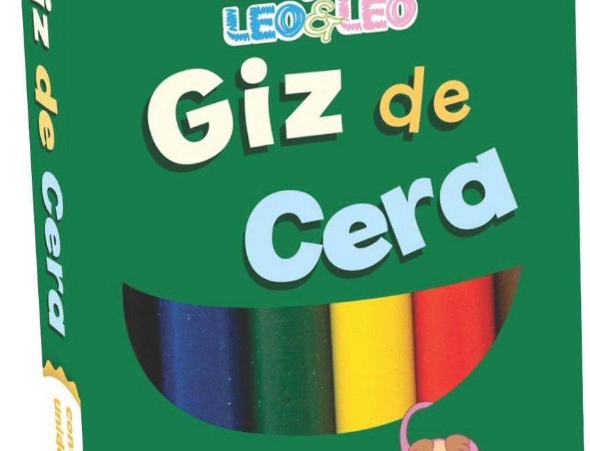 GIZ DE CERA 6 CORES FINO 8X88MM LEOELEO