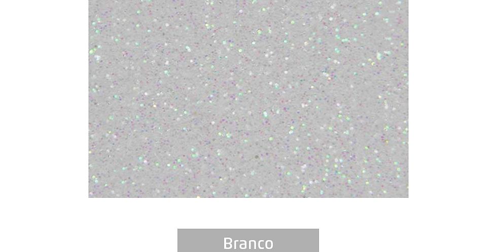 PLACA EVA COM BRILHO 40CMX60CM BRANCO LEOARTE