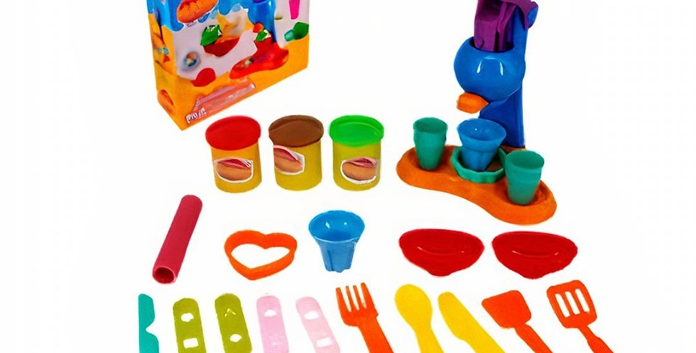 KIT MASSINHA DE MODELAR SORVETE 24 PÇS WELLKIDS