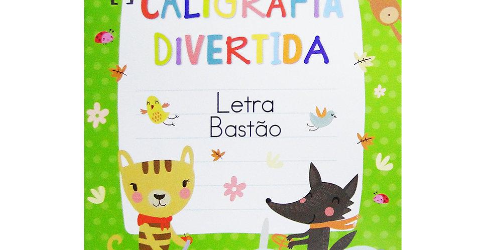 LIVRO CALIGRAFIA DIVERTIDA ALFABETO LETRA BASTAO 26X18,5CM