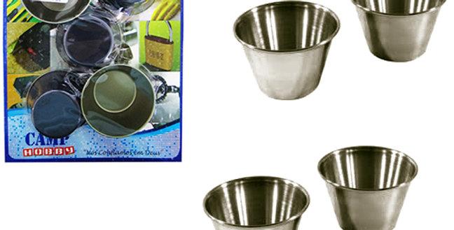 FORMA DE METAL P/CUPCAKE KIT C/5 PCS 2,5X6CM0 NA CARTELA 5469 CAMP HOBBY