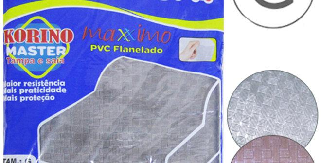 CAPA PARA MAQUINA DE LAVAR DE PVC FLANELADO KORINO MASTER GRANDE TAMPA E SAIA 10