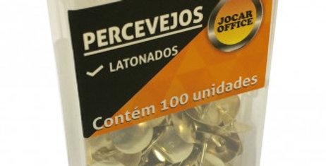 PERCEVEJO DOURADO CAIXA PLASTICA C/100 UNIDADES JOCAR OFFICE