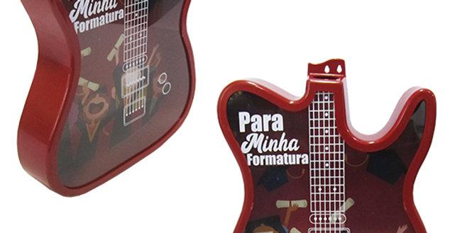 QUADRO PORTA ROLHA / TAMPINHA DE PLASTICO MODELO GUITARRA VENEZA COLORS 37,5X30C