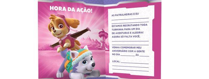 CONVITE PEQ R313 PATRULHA CANINA 3 12X08 UN