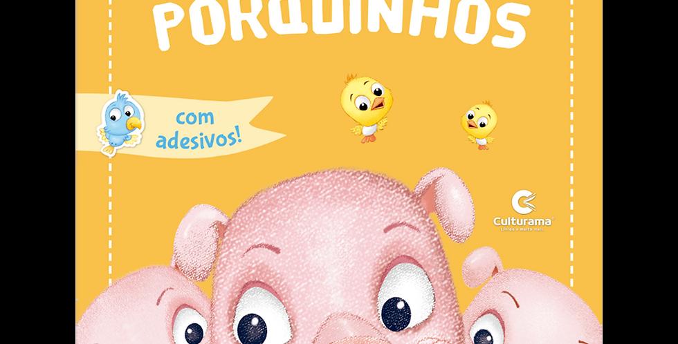 CLASSICOS PARA BRINCAR COM ADESIVOS - OS TRES PORQUINHOS
