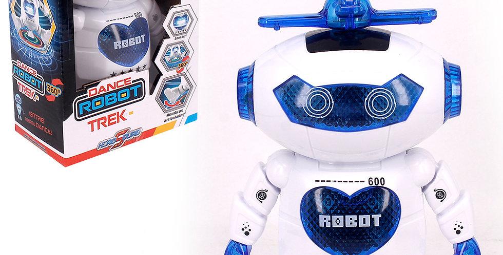 BONECO / ROBO HERO SQUAD DANCE ROBOT TREK 360º COM SOM E LUZ A PILHA COLORS NA C
