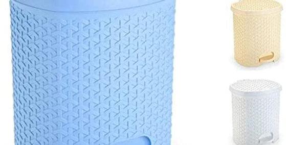 LIXEIRA PLASTICA OVAL COM PEDAL RATTAN COLORS 6 L