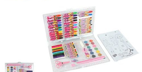 ESTOJO KIT ESCOLAR 98 PCS GLAM GIRLS