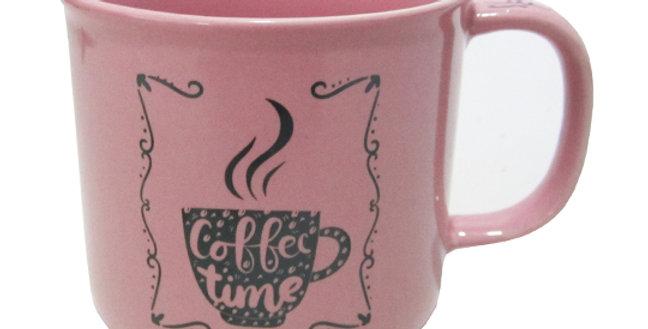 CANECA DE PORCELANA MASTER COFFEE BREAK / TIME ROSA 280ML