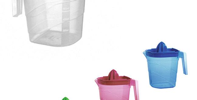 JARRA DE PLASTICO COLORS 1,2L COM ESPREMEDOR DE FRUTAS