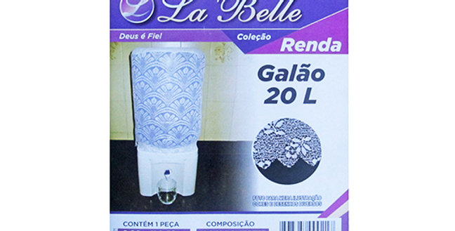 CAPA DE GALAO DE AGUA DE RENDA 90X40CM 021/038 LA BELLE
