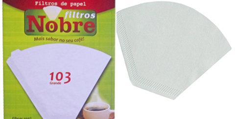 FILTRO DE CAFE GRANDE 103 COM 20 UNIDADES