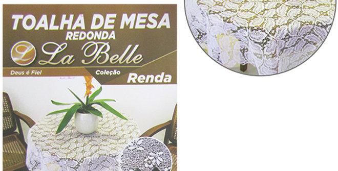 TOALHA DE MESA REDONDA DE RENDA 1,40M DE Ø