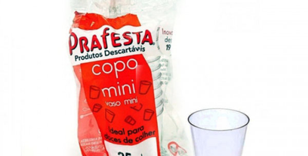COPO MINI 25ML CRISTAL PADRAO 10UN