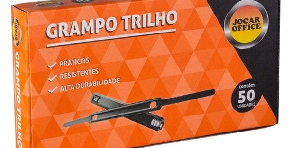 GRAMPO TRILHO 80MM METAL CX/50 UND JOCAR OFFICE