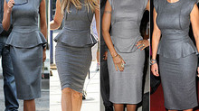 Peplum Grey Dress. Why not?