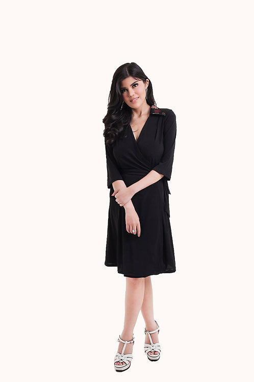 Diane Wrap Dress Black