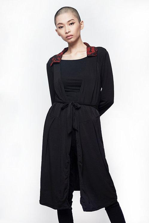 Diane Wrapped Dress Black