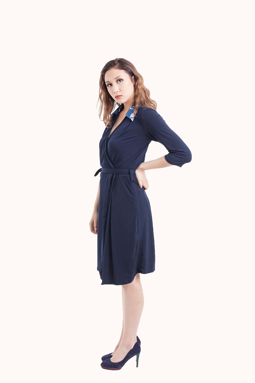 Wrap Dress with Batik