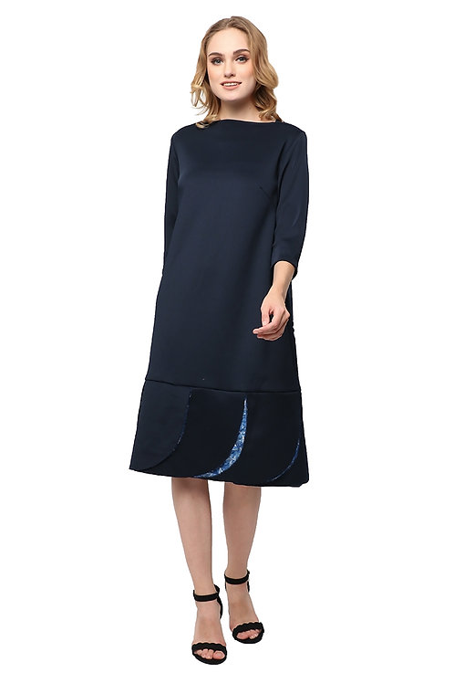 Kani Loose Dress Navy