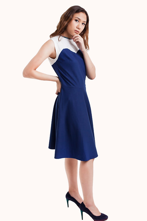 Chelle Two Tone dress Blue