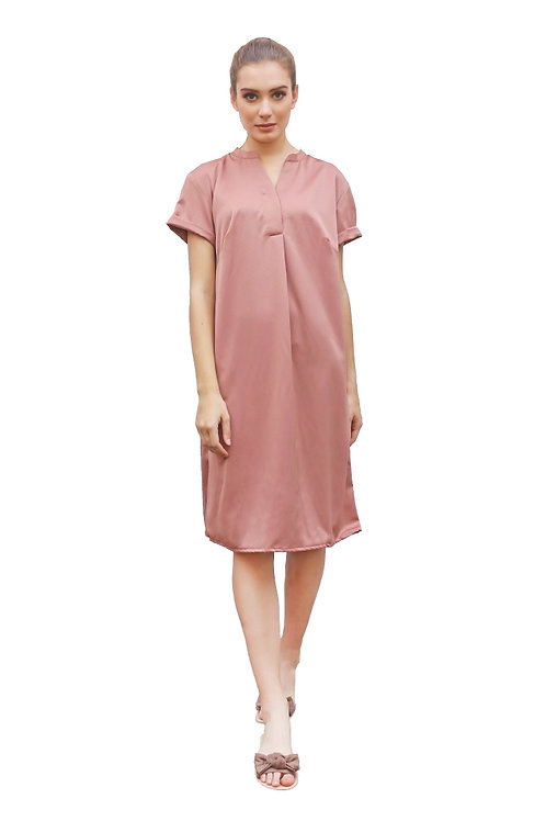 Nisaka Summer Dress Dusty Pink