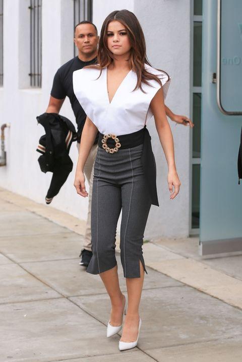 V-neck Top Selena Gomez