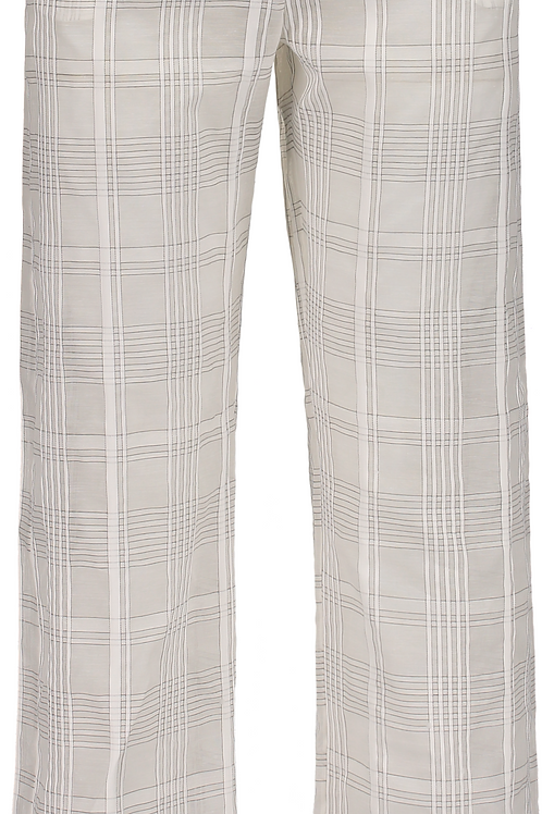 Plaid Semi-Sheer Pant
