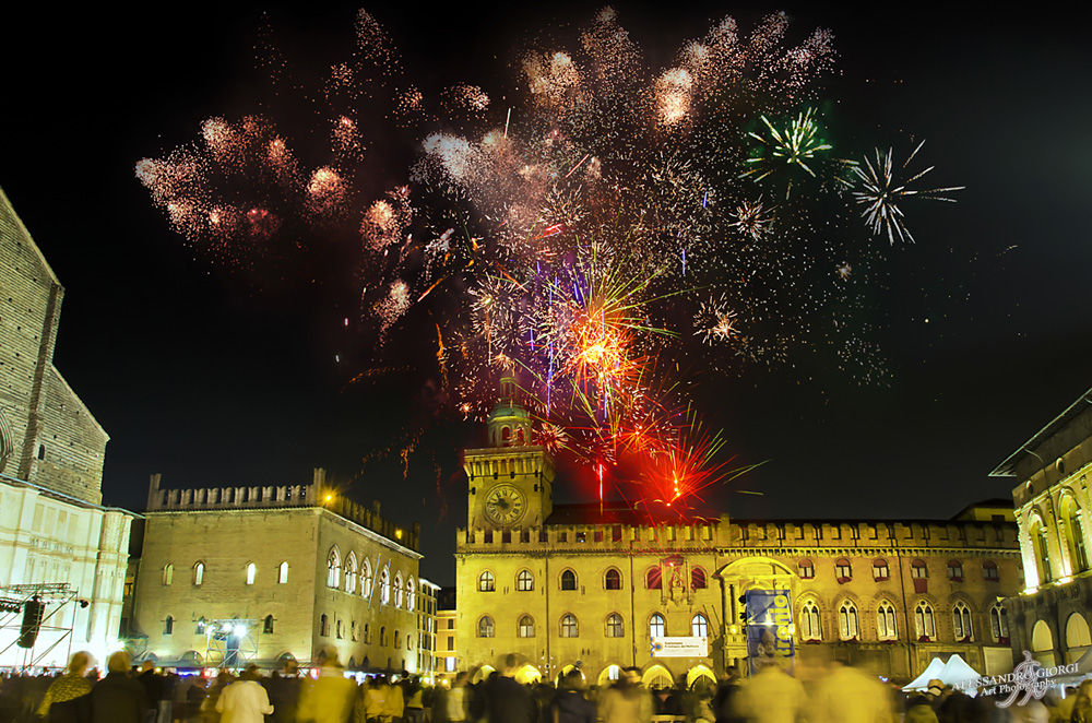 Fireworks on the square