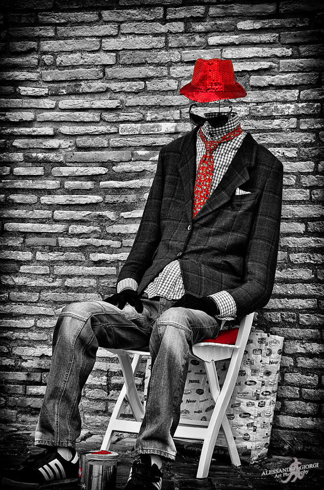 Invisible man loves red