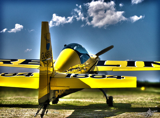 PRINTED ART - Yellow airplane