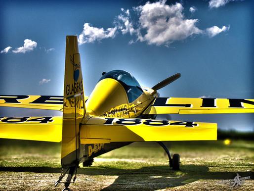 PRINTED ART - Yellow airplane
