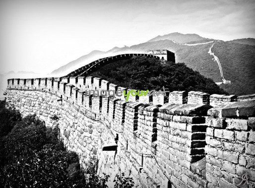 IMAGE YOUR ART - Black and White Great Wall