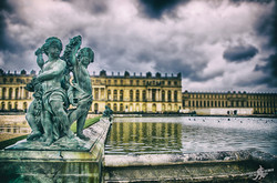 Walking in the Versailles garden