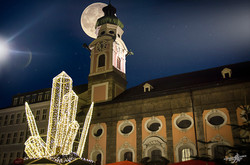Lights and moon