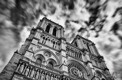 The sky over Notre-Dame