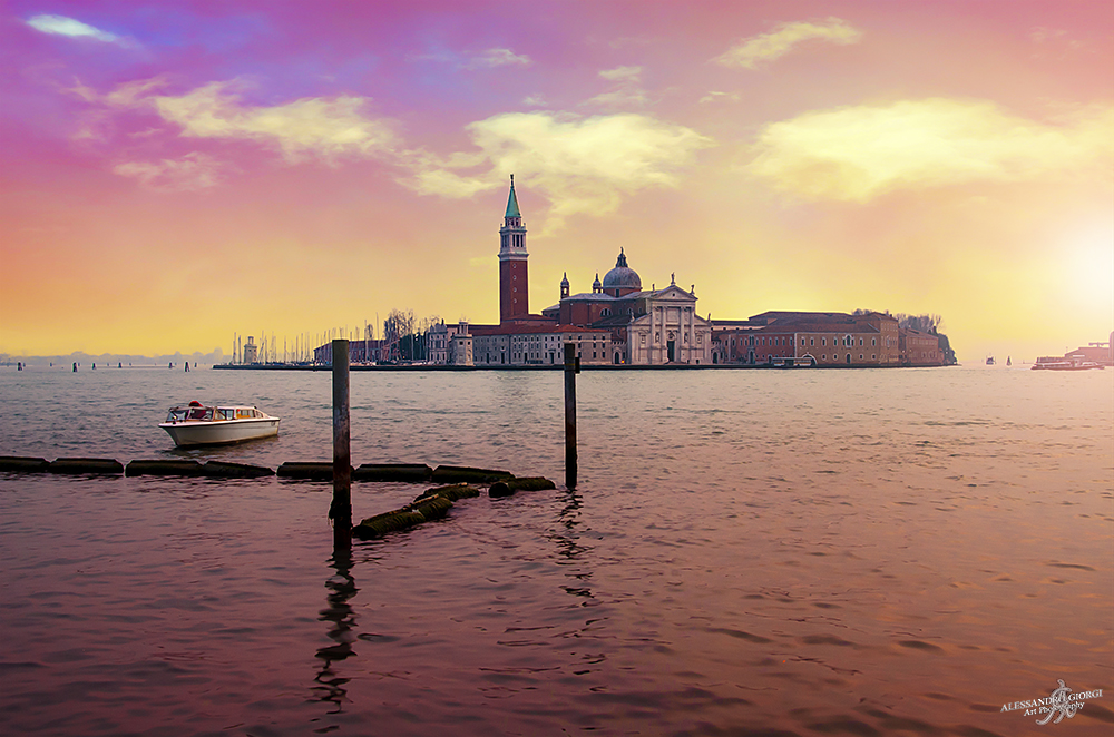 Sundown in Venice