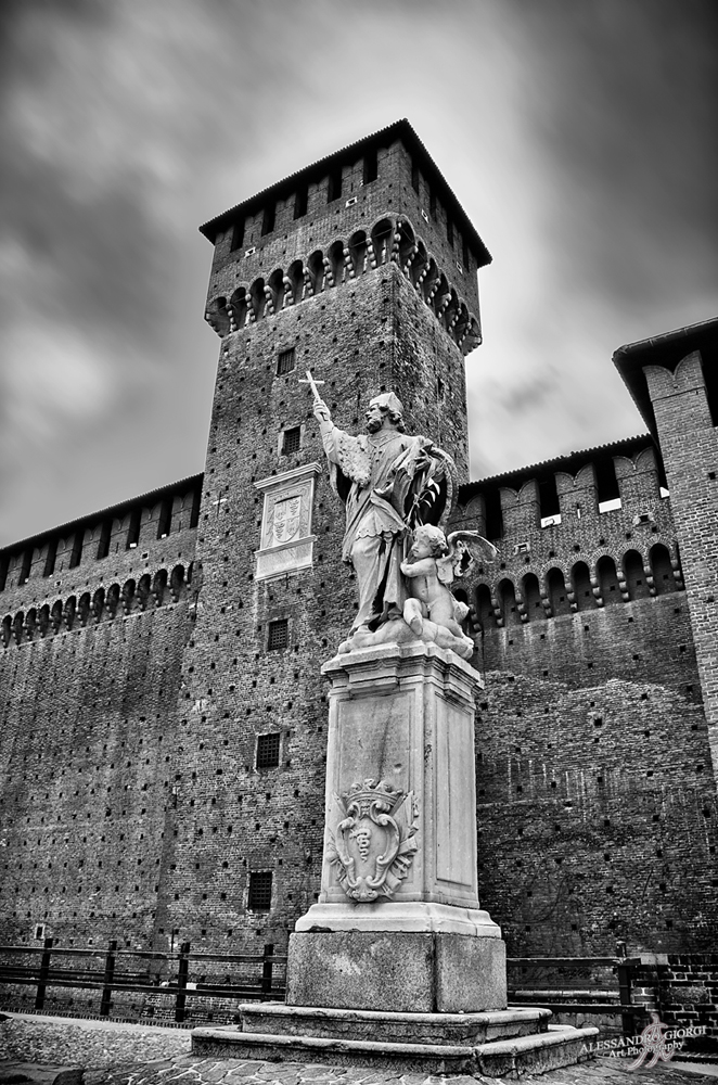Castello Sforzesco (Milan in B&W)