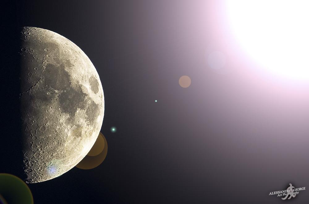 Shining half-moon