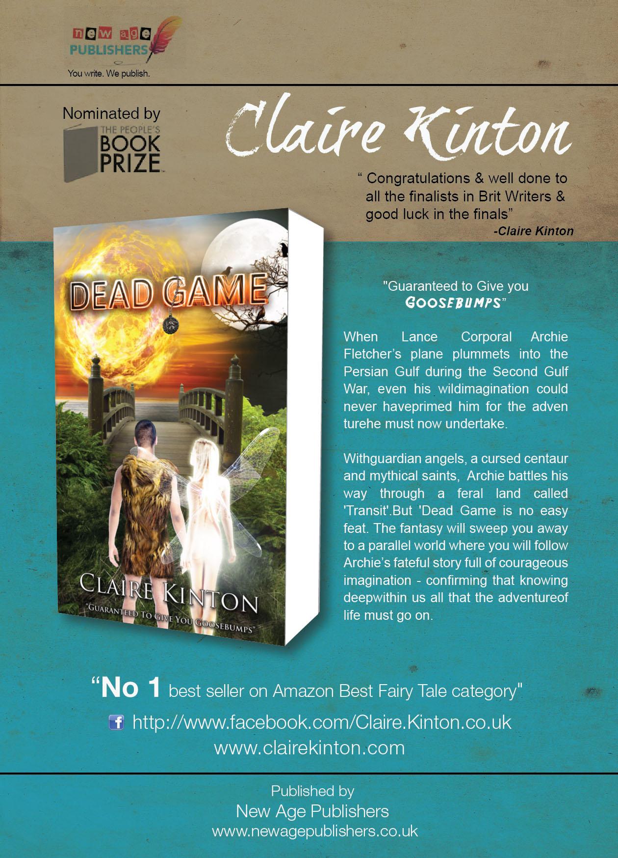 Claire Kinton Author A4 poster