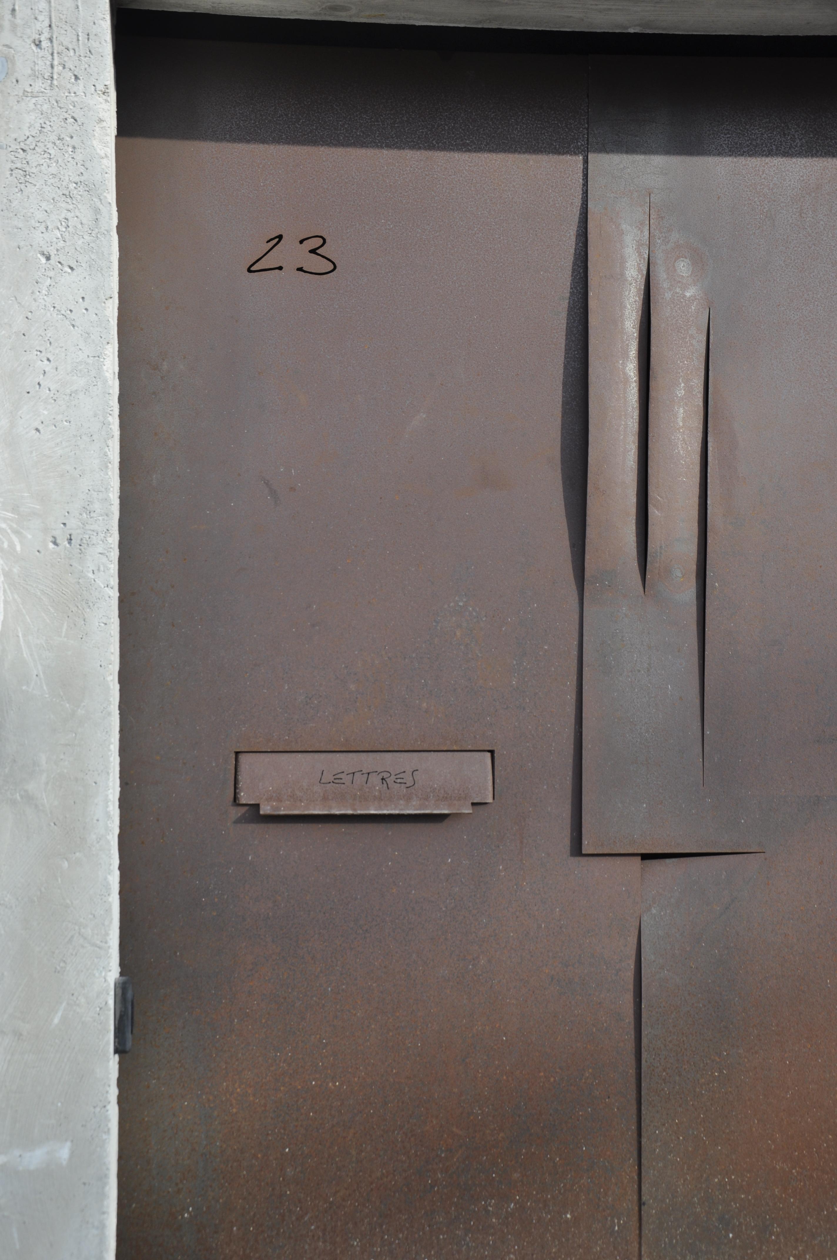 détail porte de garage