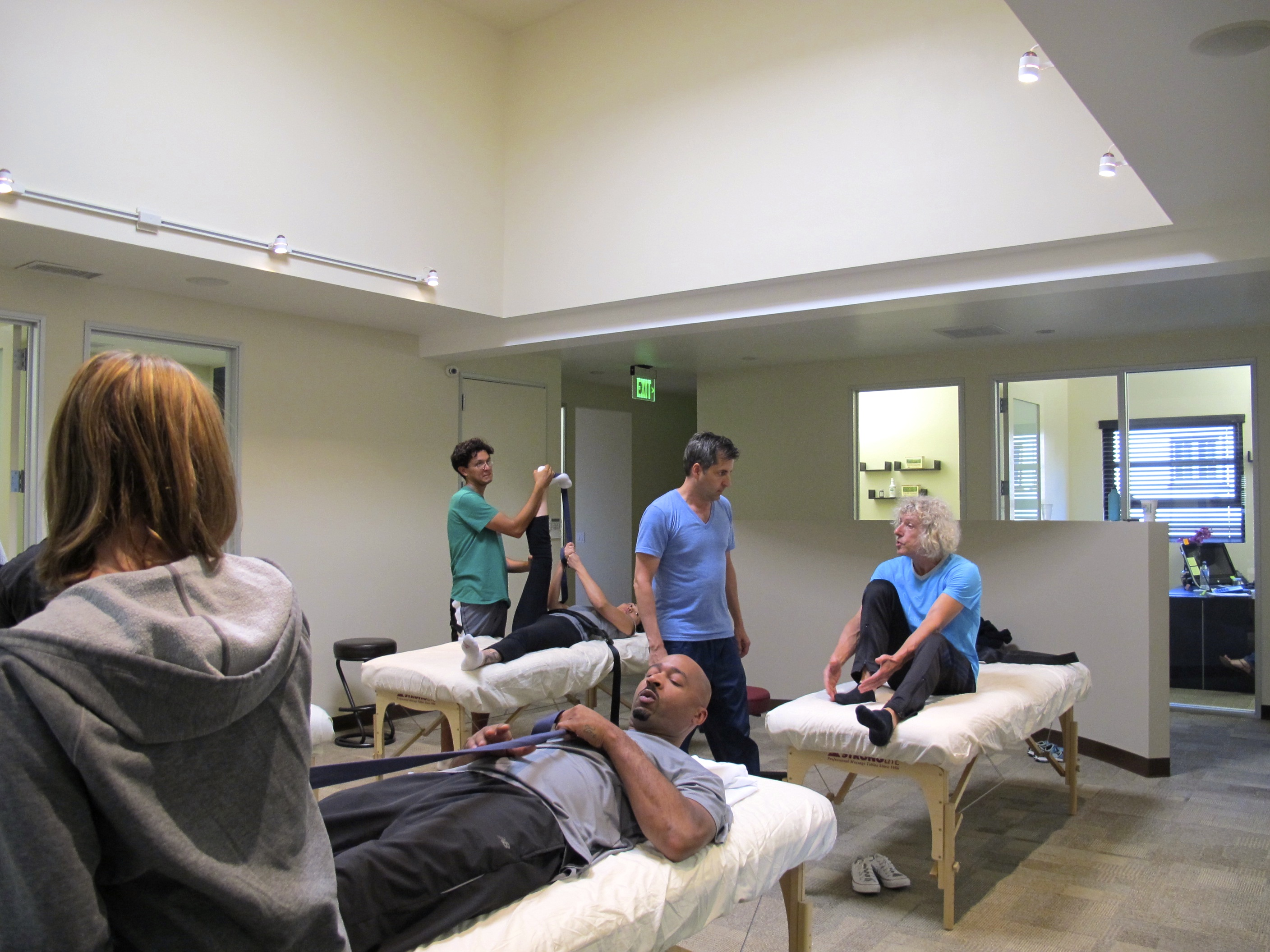 Beverley Hills, training a team of chiropracters and physiotherapists