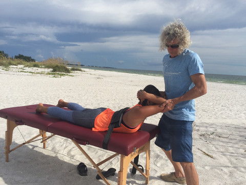Thoracic extension with rotation for ser